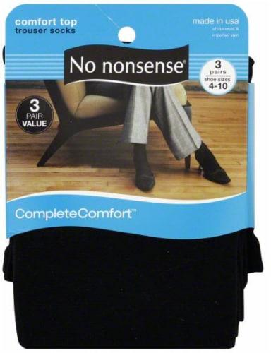 No Nonsense Women's CompleteComfort Trouser Socks - 3 pk - Black Perspective: front