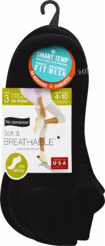 No Nonsense Soft and Breathable No Show Women's Socks Perspective: front