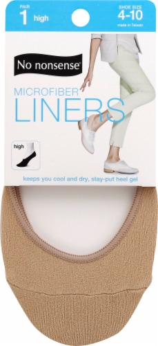 No Nonsense Microfiber Shoe Liners - Nude Perspective: front