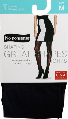 No Nonsense Great Shapes Women's Opaque Tights - Black Perspective: front