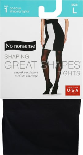 No Nonsense Great Shapes Large Opaque Tights - Black Perspective: front