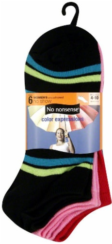 No Nonsense Color Expressions Women's No-Show Socks - 6 pk Perspective: front