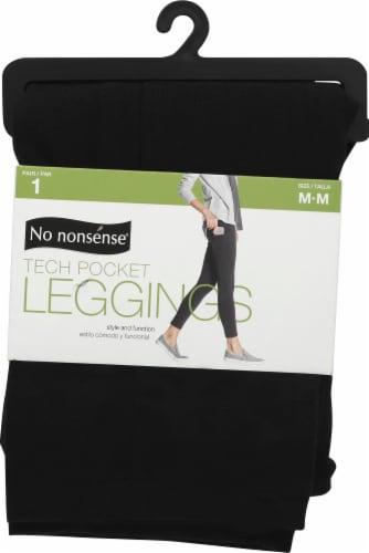 No Nonsense Tech Pocket Leggings - 1 Pair - Black Perspective: front