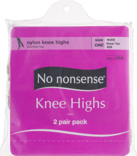 No Nonsense Knee High Stockings - 2 pk - Nude Perspective: front