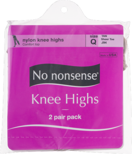 No Nonsense Knee High Stockings - 2 pk - Tan Perspective: front