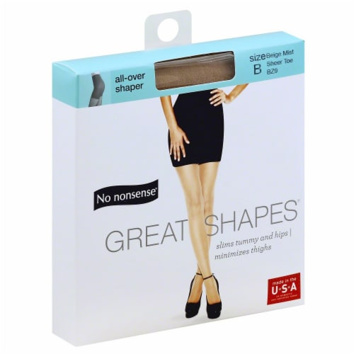 No Nonsense Great Shapes BZ9 Beige Mist Size B All Over Shaper Perspective: front