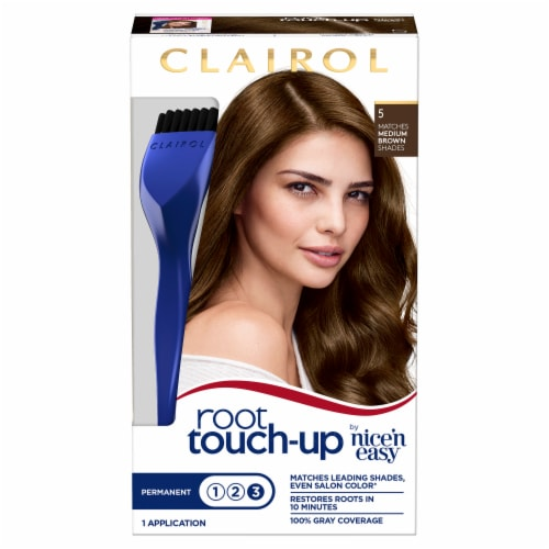 Clairol Permanent 5 Medium Brown Root Touch-Up Perspective: front