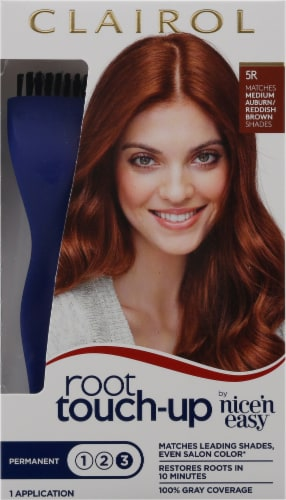 Clairol Permanent 5R Medium Auburn / Reddish Brown Root Touch-Up Perspective: front