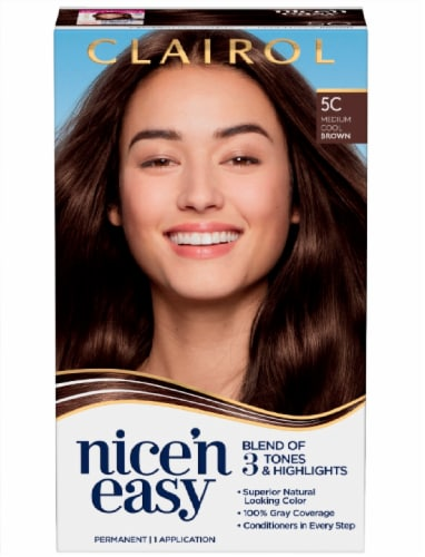 Clairol Nice n' Easy Medium Cool Brown Permanent Hair Color Perspective: front