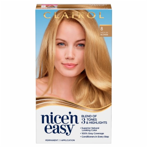 Clairol Nice'n Easy 8 Medium Blonde Hair Color Perspective: front