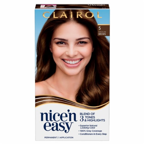 Clairol Nice'n Easy 5 Medium Brown Hair Color Perspective: front