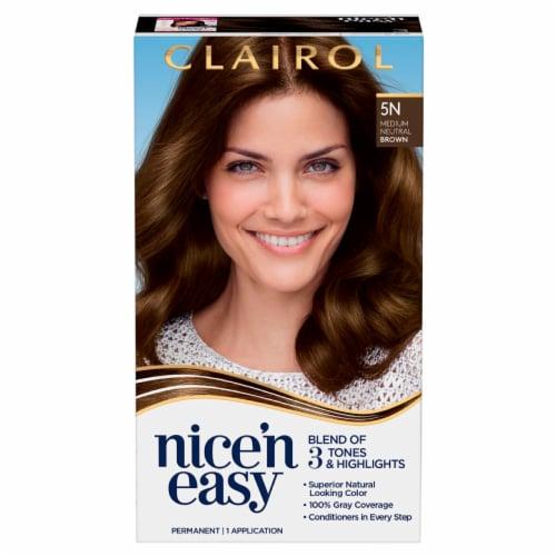 Clairol Nice'n Easy 5N Medium Neutral Brown Permanent Hair Color Perspective: front