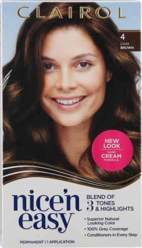 Clairol Nice'n Easy 4 Dark Brown Hair Color Perspective: front