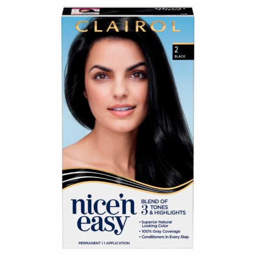 Clairol Natural Looking Nice'n Easy Permanent 2 Black Color Perspective: front