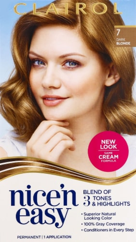 Clairol Nice'n Easy 7 Dark Blonde Hair Color Perspective: front
