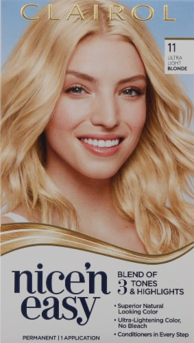 Clairol Nice 'N Easy 11 Ultra Light Blonde Color Care Formula Perspective: front