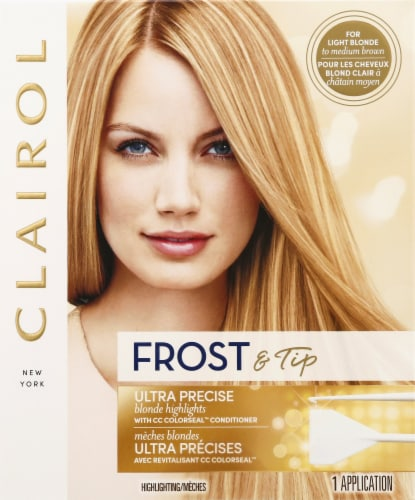 Clairol Frost & Tip Ultra Precise Blonde Highlights with CC Colorseal Conditioner Perspective: front