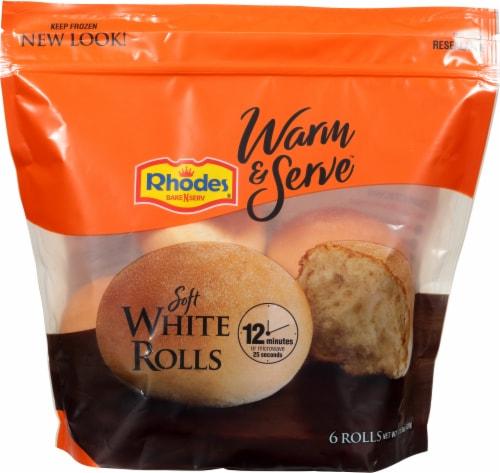 Rhodes Warm 'N Serve Soft White Rolls Perspective: front