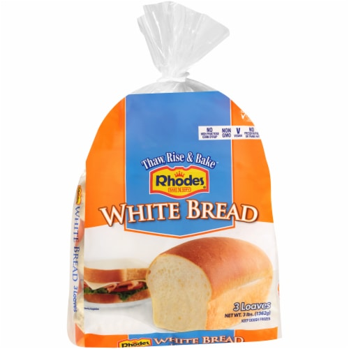Rhodes Bake-N-Serv White Bread Dough 3 Count Perspective: front