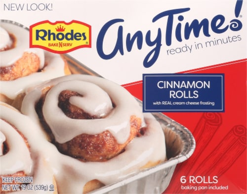 Rhodes Anytime Cinnamon Rolls Perspective: front