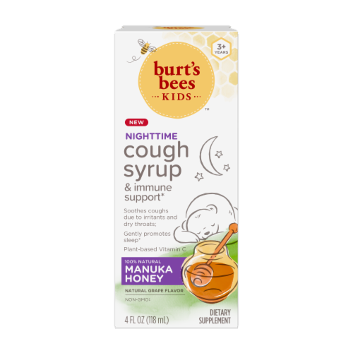Burt's Bees™ Kids Nighttime Grape Manuka Honey Cough Syrup Perspective: front