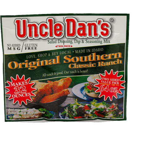 Uncle Dan's Classic Ranch Dressing & Dip Mix Perspective: front