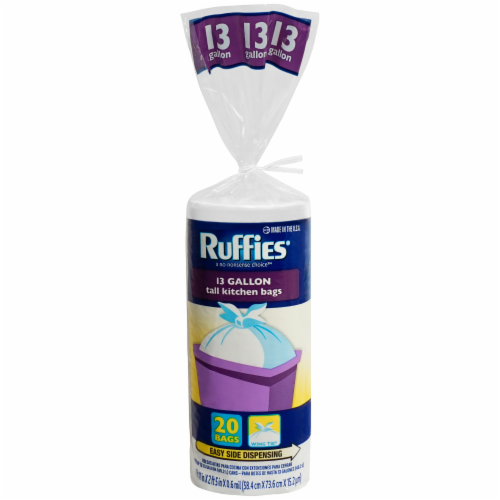 Ruffies Tall Kitchen Bags 13 Gallon Perspective: front