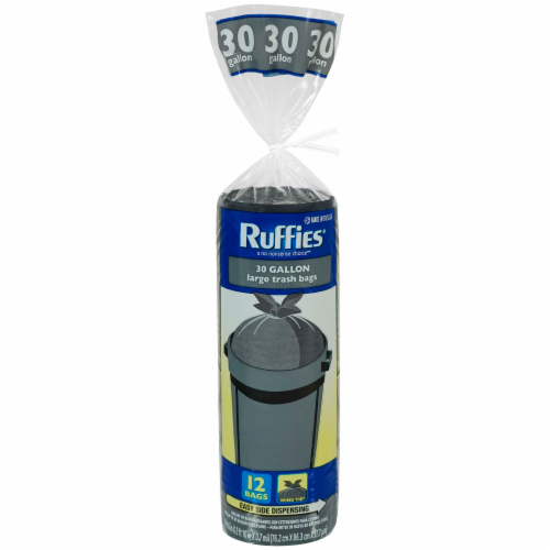 Ruffies Large Trash Bags 30 Gallon Perspective: front