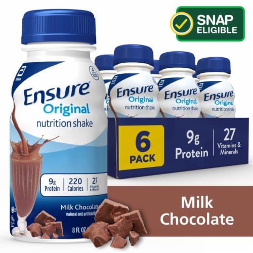 Ensure Original Milk Chocolate Ready-to-Drink Nutrition Shakes Perspective: front