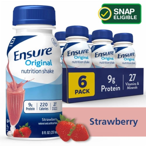 Ensure® Original Strawberry Ready-to-Drink Nutrition Shakes Perspective: front