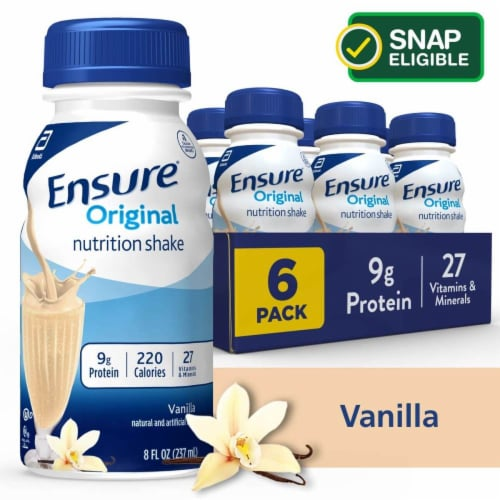 Ensure Original Vanilla Ready-to-Drink Nutrition Shakes Perspective: front