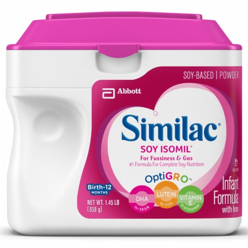 Similac Soy Isomil OptiGro For Fussiness and Gas Soy-Based Powder Infant Formula with Iron Perspective: front