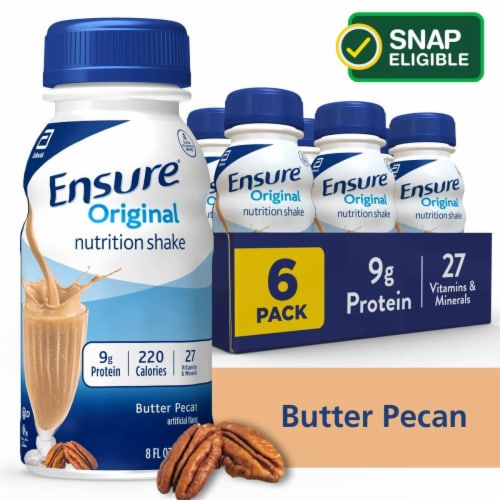 Ensure Original Butter Pecan Ready-to-Drink Nutrition Shakes Perspective: front
