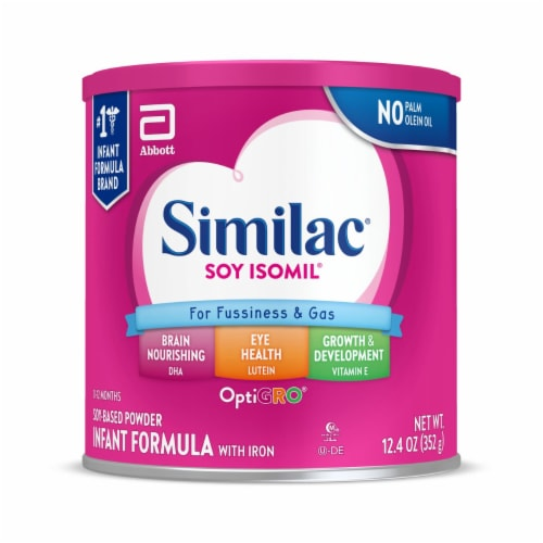 Similac Soy Isomil For Fussiness and Gas Powder Infant Formula with Iron Perspective: front