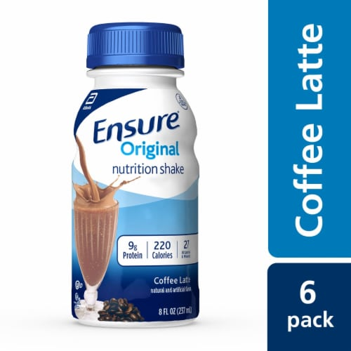 Ensure Original Coffee Latte Ready-to-Drink Nutrition Shakes Perspective: front