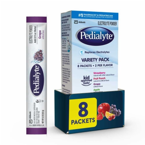 Pedialyte Variety Powder Electrolyte Powder Perspective: front