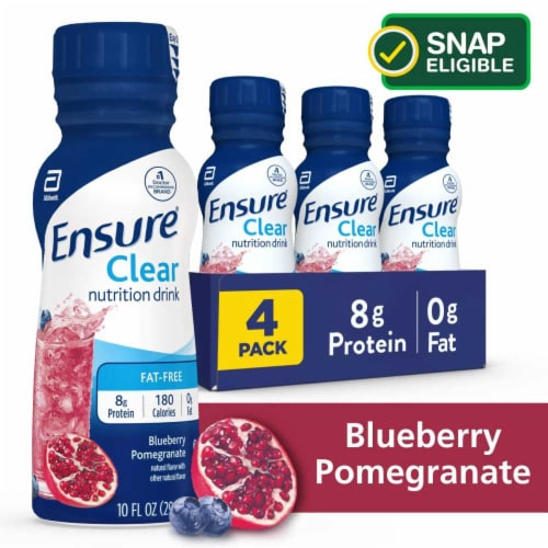 Ensure Clear Blueberry Pomegranate Ready-to-Drink Nutrition Drink Perspective: front
