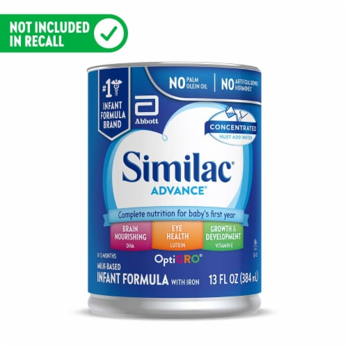 Similac Advance Infant Concentrated Liquid Infant Formula Perspective: front