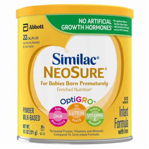 Similac NeoSure OptiGro Powder Infant Formula with Iron Perspective: front