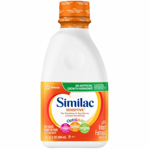 Similac Sensitive For Fussiness and Gas Ready-to-Feed Infant Formula with Iron Perspective: front