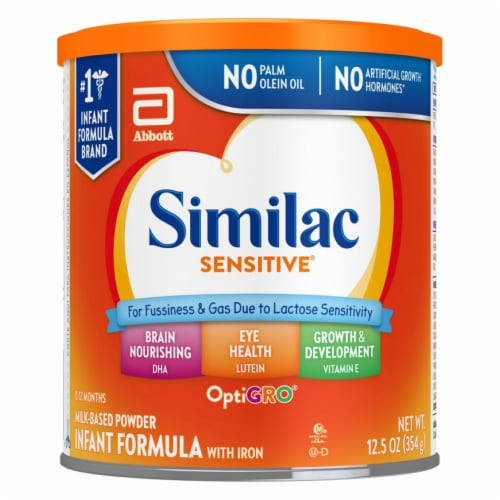 Similac Sensitive® For Fussiness and Gas Powder Infant Formula with Iron Perspective: front