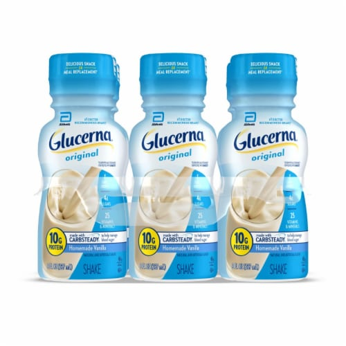 Glucerna Homemade Vanilla Ready-to-Drink Nutritional Shakes Perspective: front