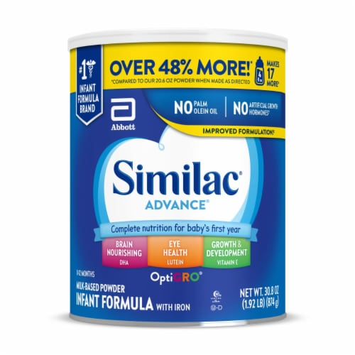 Similac Advance OptiGro Powder Infant Formula with Iron Perspective: front