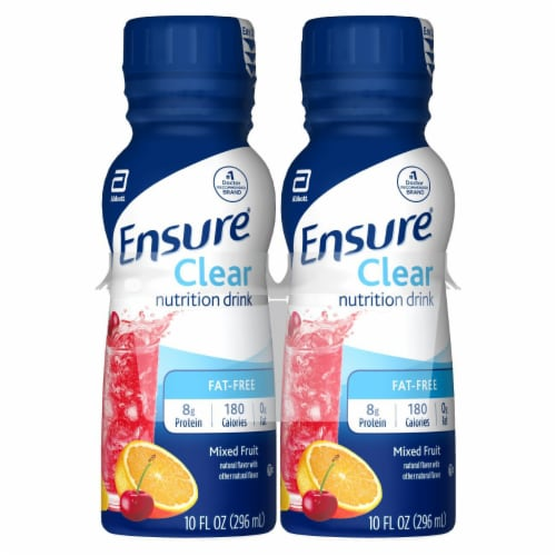 Ensure Clear Mixed Fruit Ready-to-Drink Nutrition Shakes Perspective: front