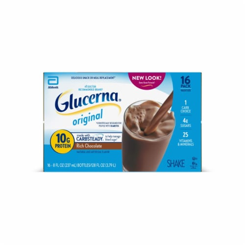 Glucerna Rich Chocolate Ready-to-Drink Nutritional Shakes Perspective: front