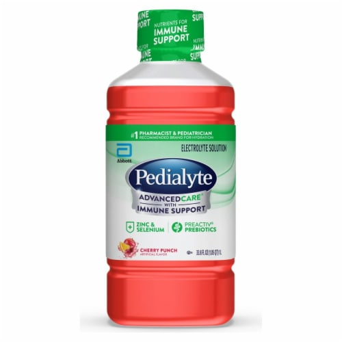 Pedialyte AdvancedCare Cherry Punch Ready-to-Drink Electrolyte Solution Perspective: front