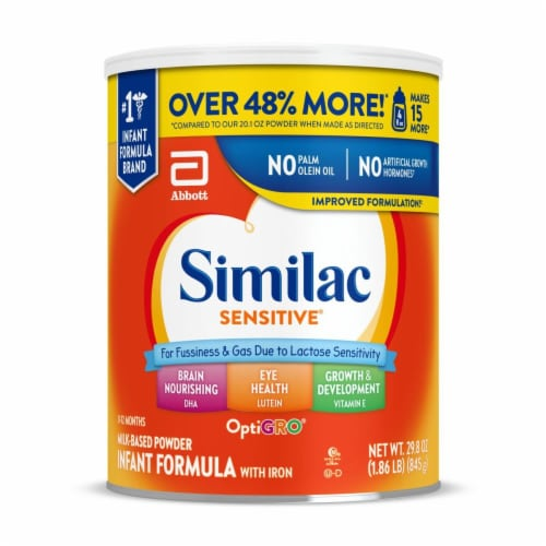 Similac Optigro Sensitive Powder Infant Formula Perspective: front