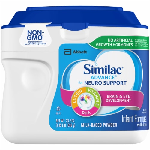 Similac Advance Infant Non-GMO Milk-Based Powder Formula with Iron Perspective: front