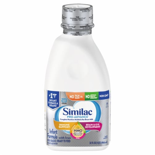 Similac Pro-Advance Non-GMO with 2'-FL HMO Ready-to-Feed Infant Formula with Iron Perspective: front