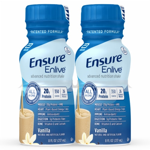 Ensure Enlive Advanced Vanilla Ready-to-Drink Nutrition Shakes Perspective: front